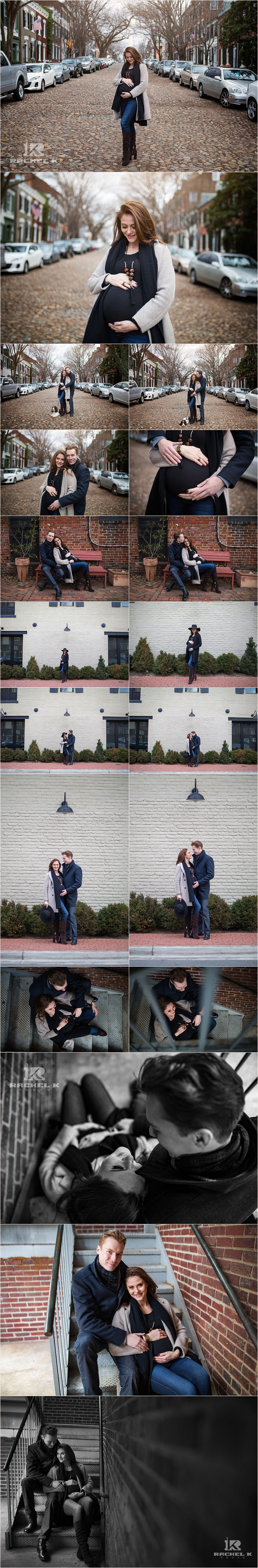 Maternity session by Rachel K Photo in Old Town Alexandria