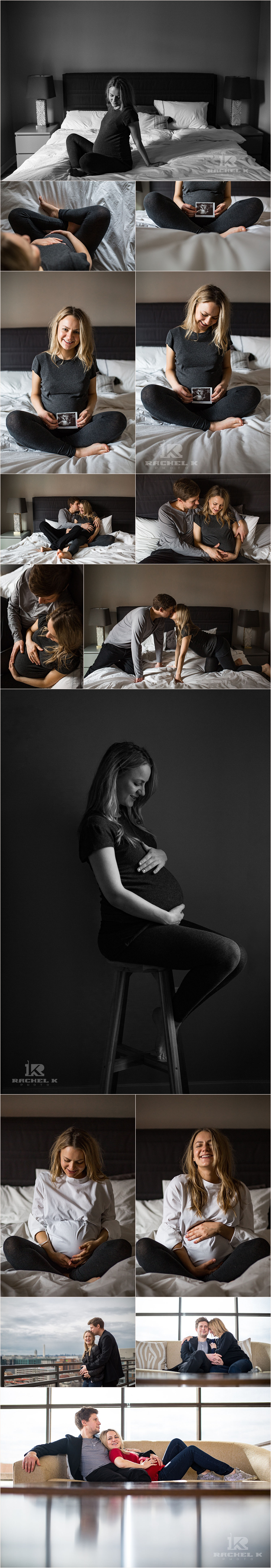 DC Indoor lifestyle maternity session by Rachel K Photo