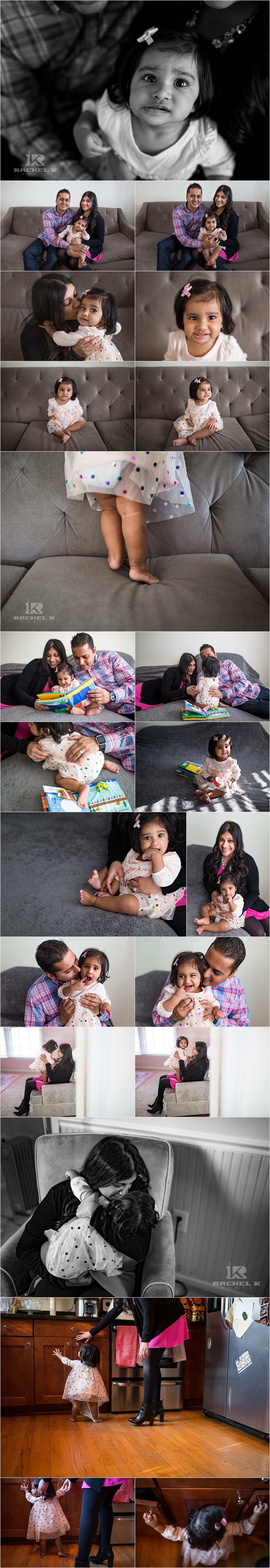 Arlington VA Indoor family session by Rachel K Photo