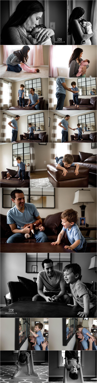 Newborn lifestyle photos by Rachel K Photo in Arlington VA
