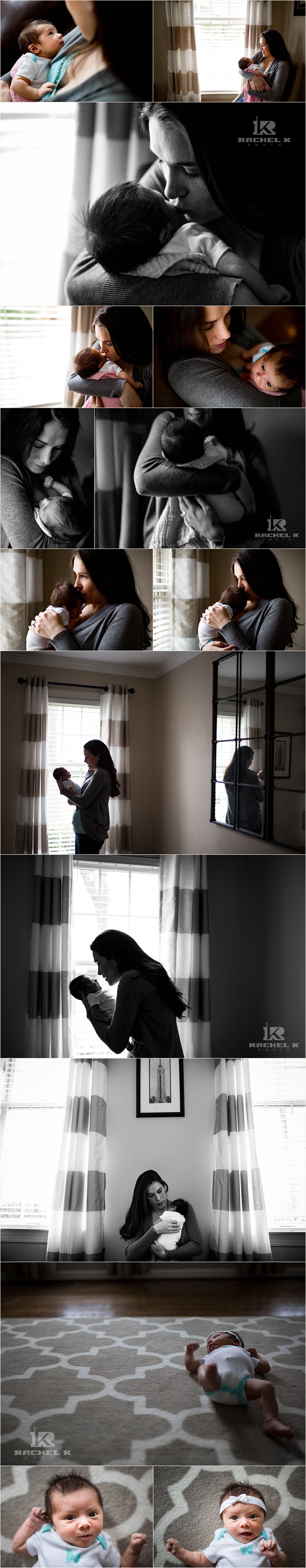 Newborn lifestyle photos by Rachel K Photo in Fairfax VA