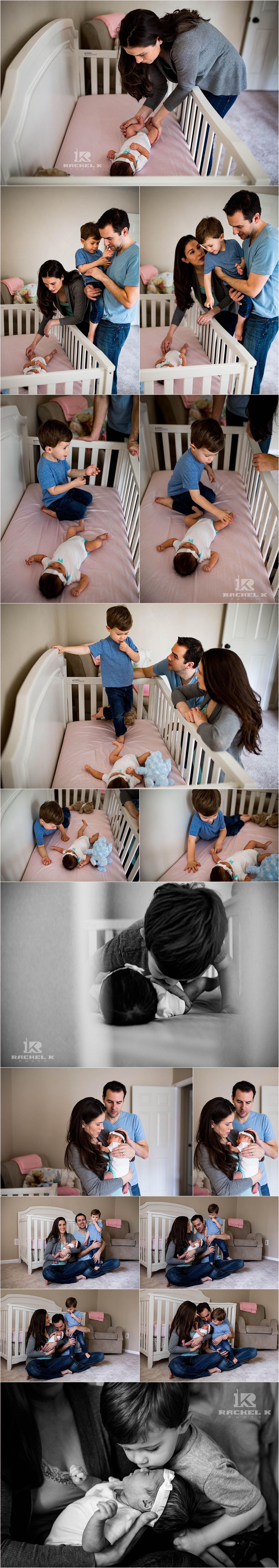 Fairfax Va newborn lifestyle photos by Rachel K Photo