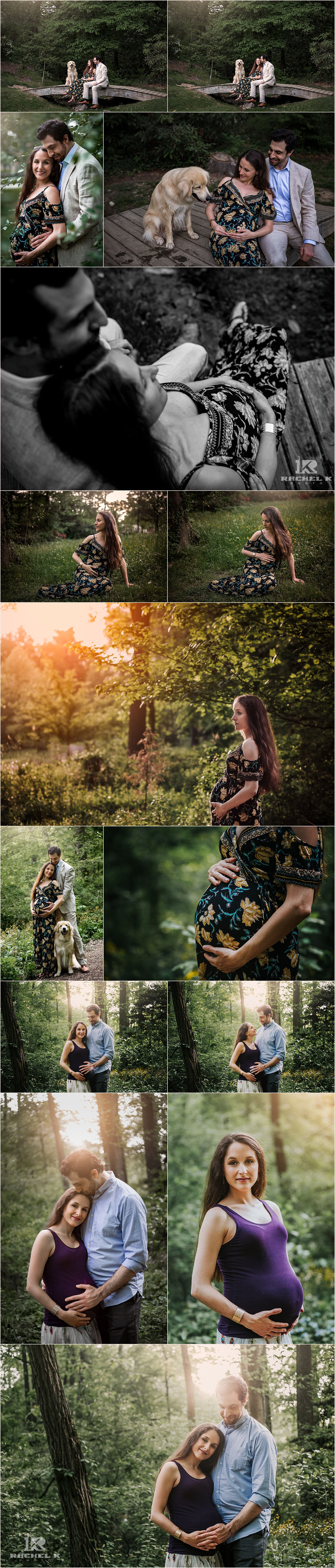 Green Springs Gardens Alexandria maternity session by Rachel K Photo