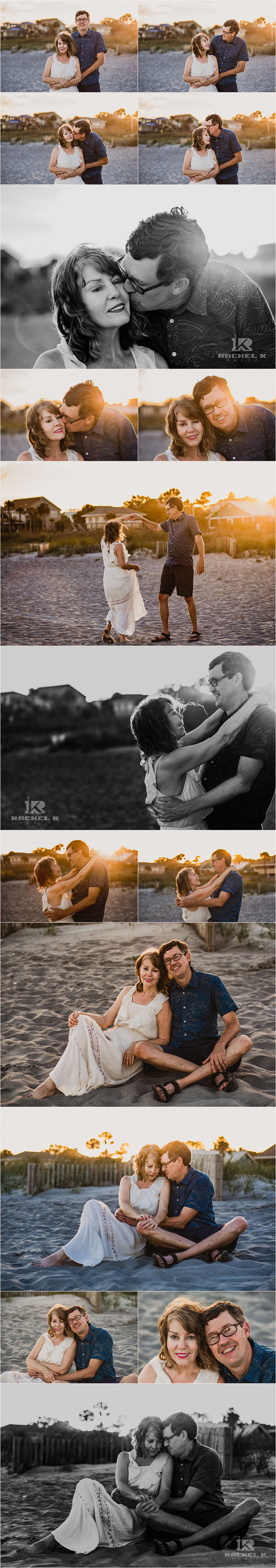Folly beach couple session by Rachel K Photo