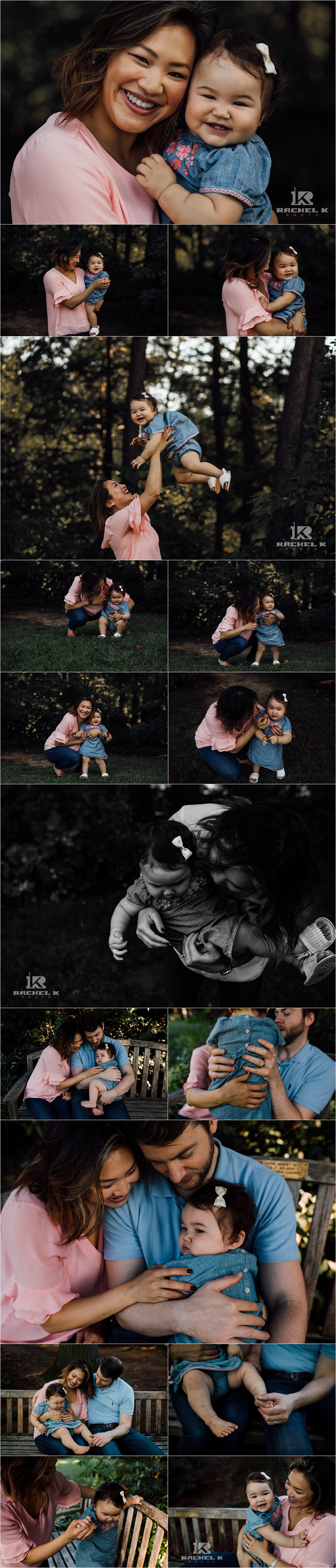 Northern Virginia family session in Alexandria Virginia at Green Springs Gardens by Rachel K Photo