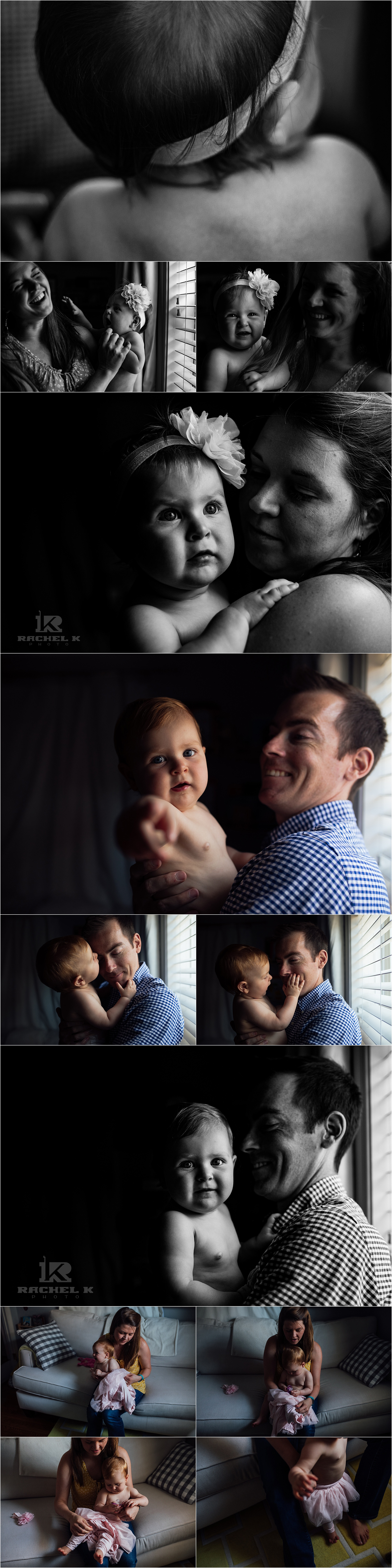 Fairfax Virginia family session with one year old girl by Rachel K Photo