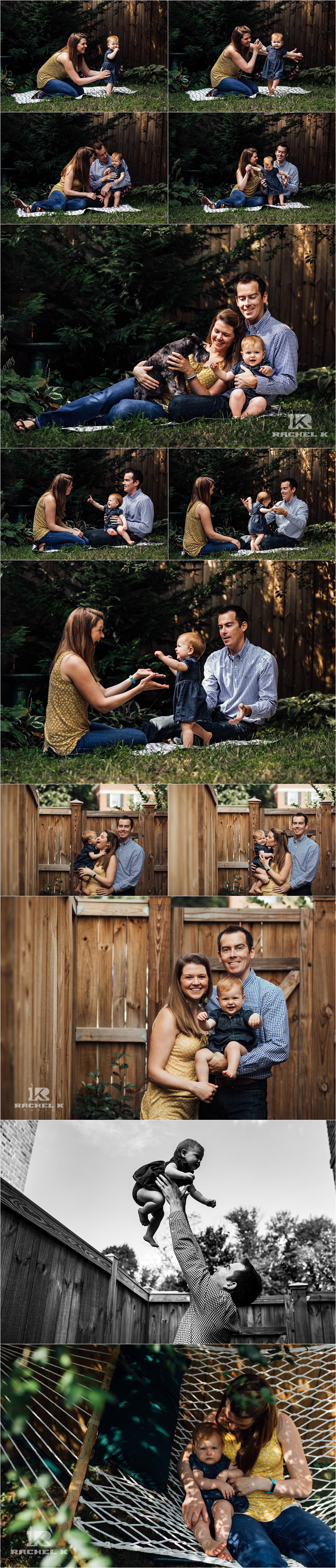 Arlington Virginia backyard family session by Rachel K Photo