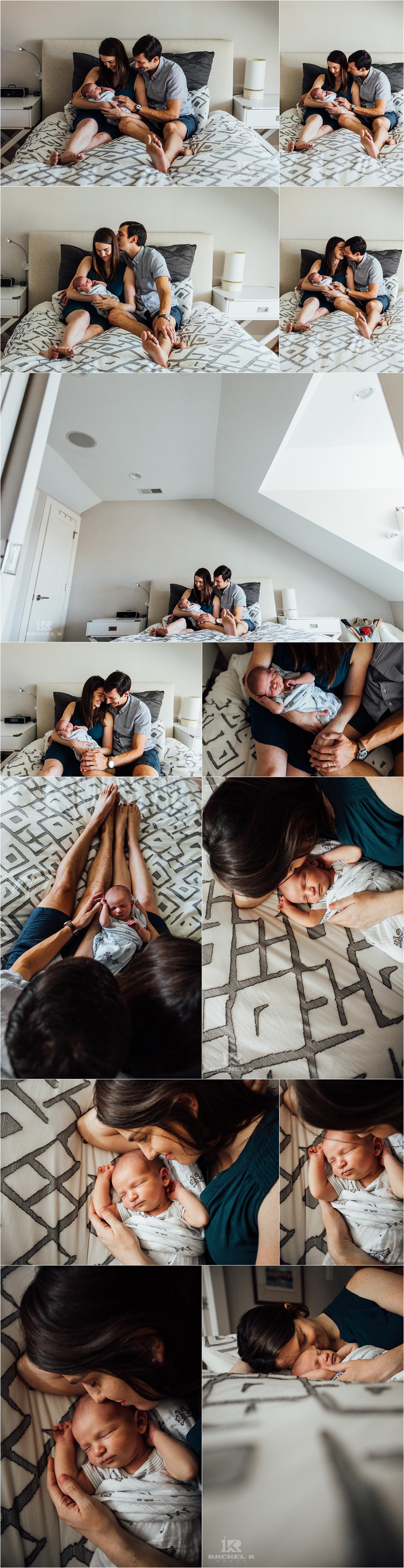 Newborn lifestyle session by Fairfax county photographer Rachel K Photo