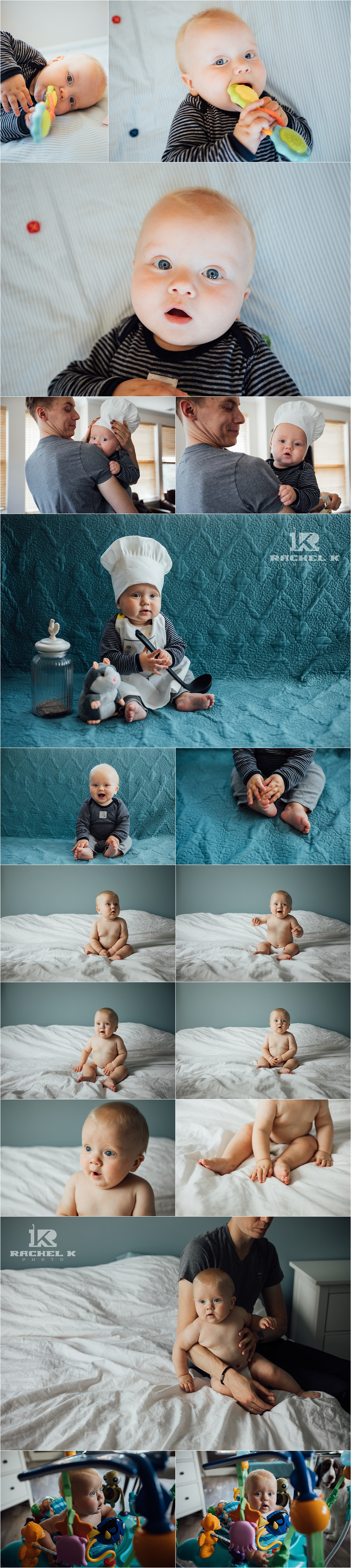 Centreville Virginia indoor lifestyle session with 8 month old by Rachel K Photo