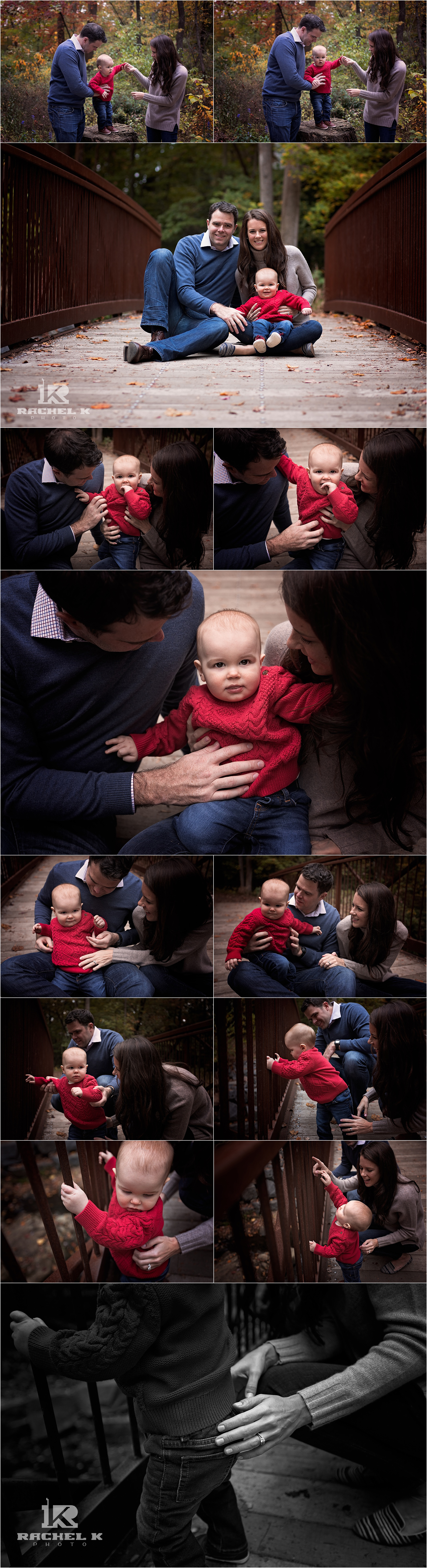 Fall family session with baby by Arlington Virginia family photographer Rachel K Photo
