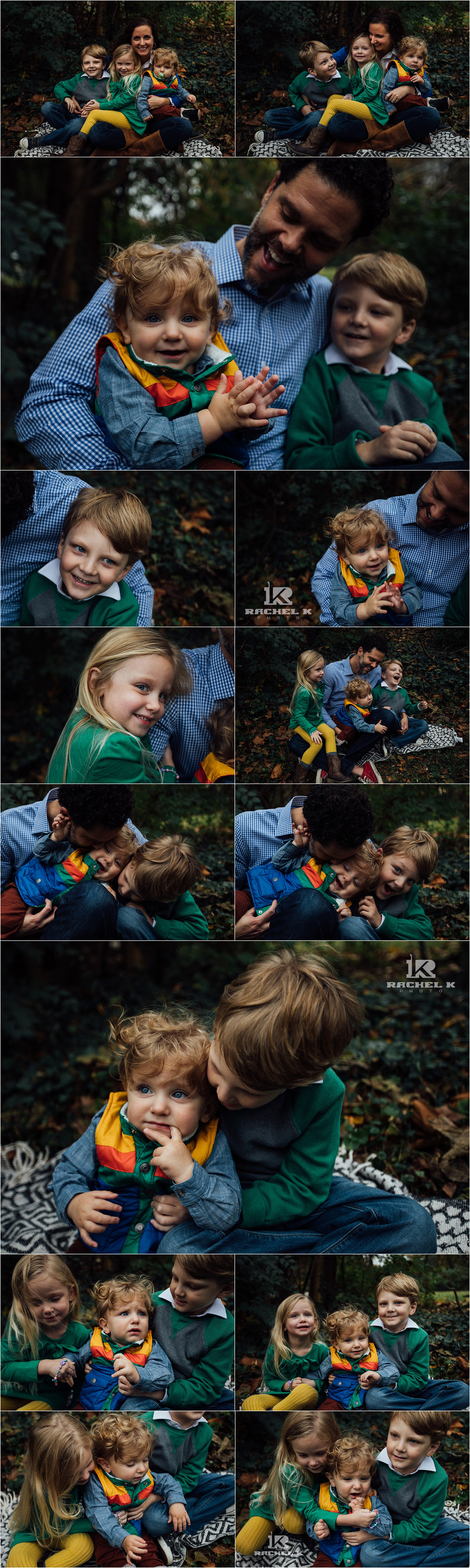 Family of five session in Arlington Virginia by Rachel K Photo