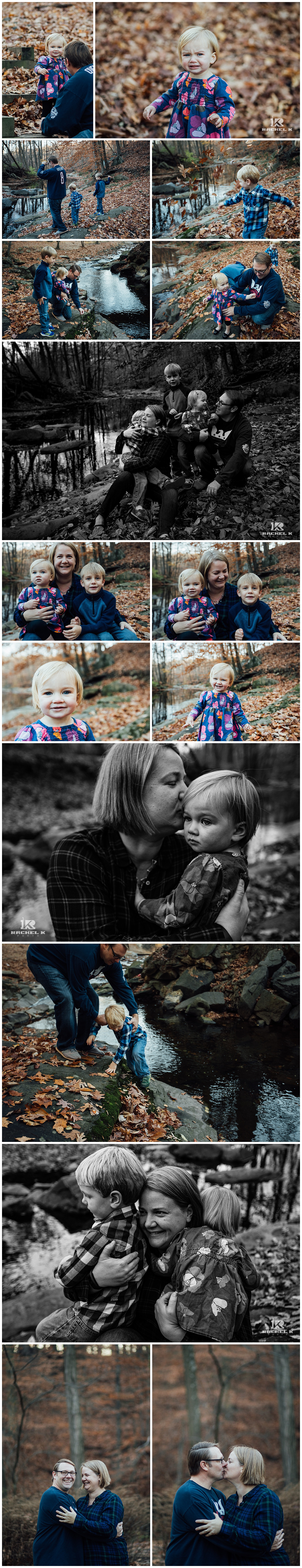 Chantilly Virginia winter family session with three kids by Rachel K Photo