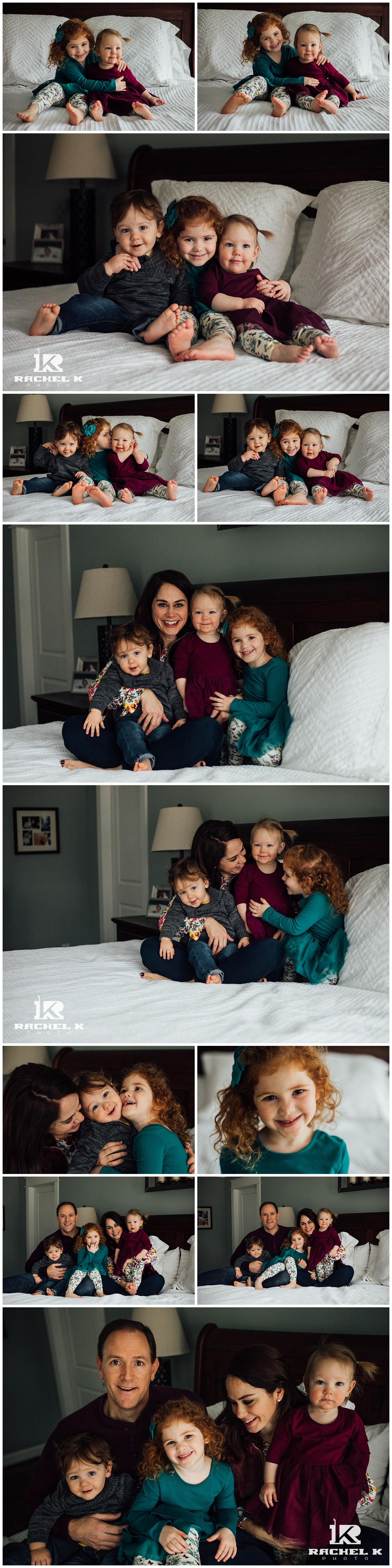 winter indoor family session with twins by Arlington Virginia photographer Rachel K Photo