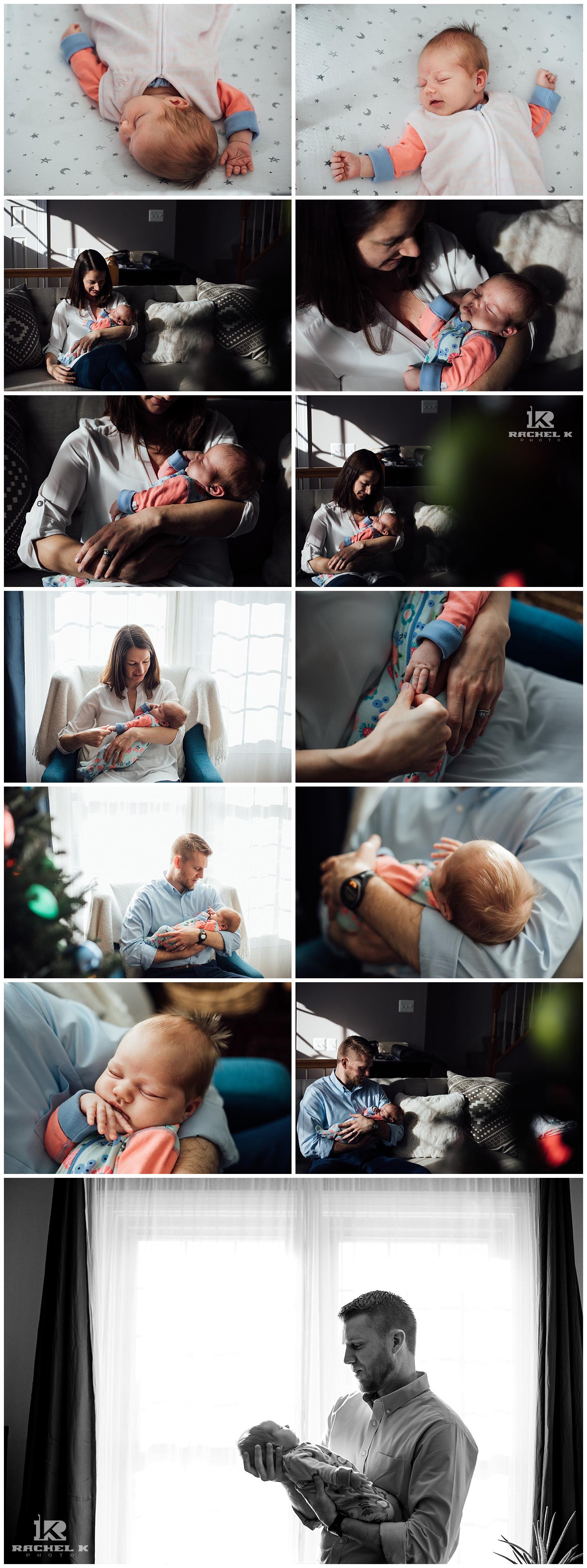Alexandria baby girl lifestyle session by newborn photographer Rachel K Photo