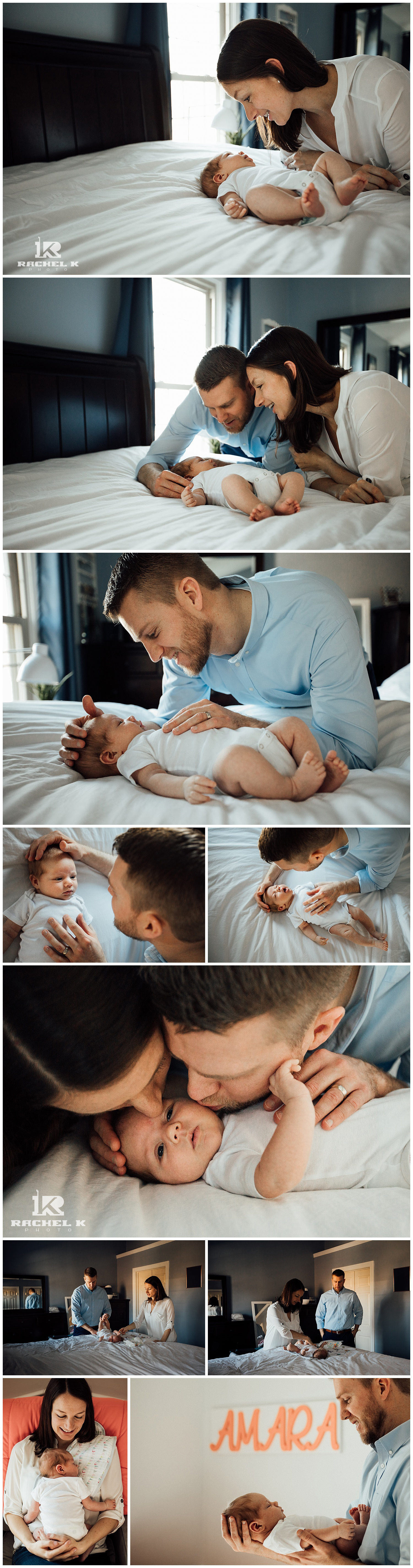 Centreville baby girl lifestyle session by newborn photographer Rachel K Photo
