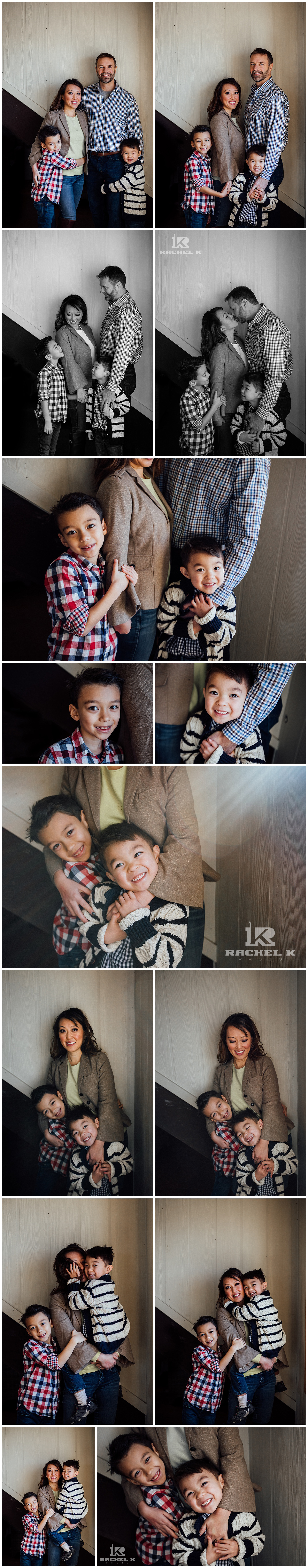 Indoor family session with two boys in Centreville Va by Rachel K Photo