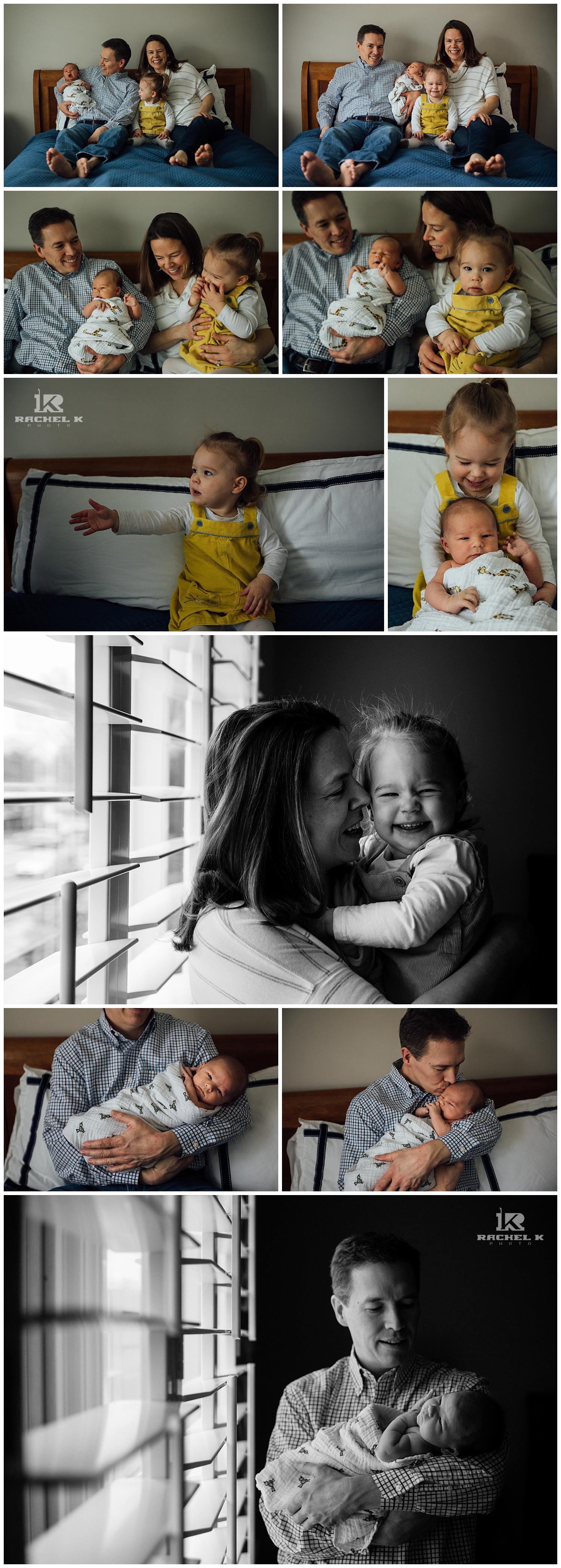 Indoor newborn session in McLean Virginia by Rachel K Photo