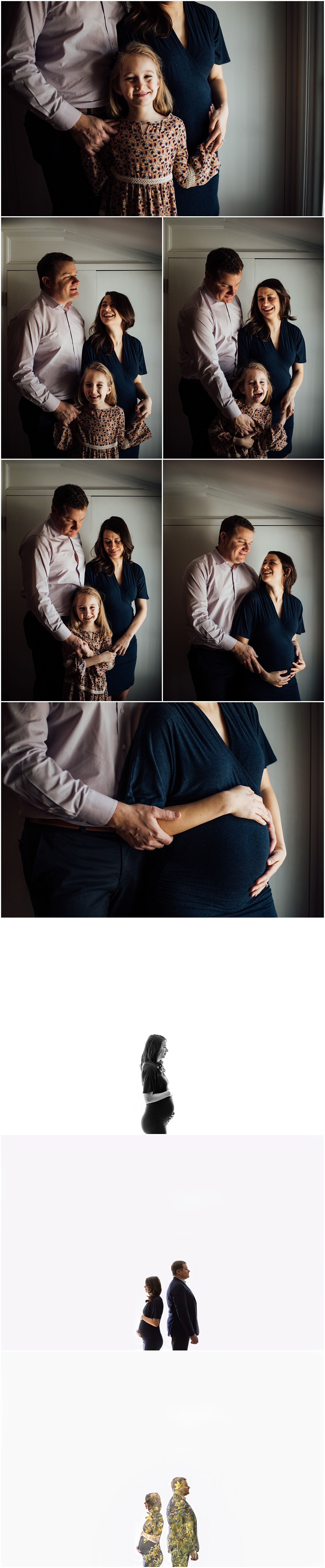 Creative Indoor maternity session by Fairfax Virginia photographer Rachel K Photo