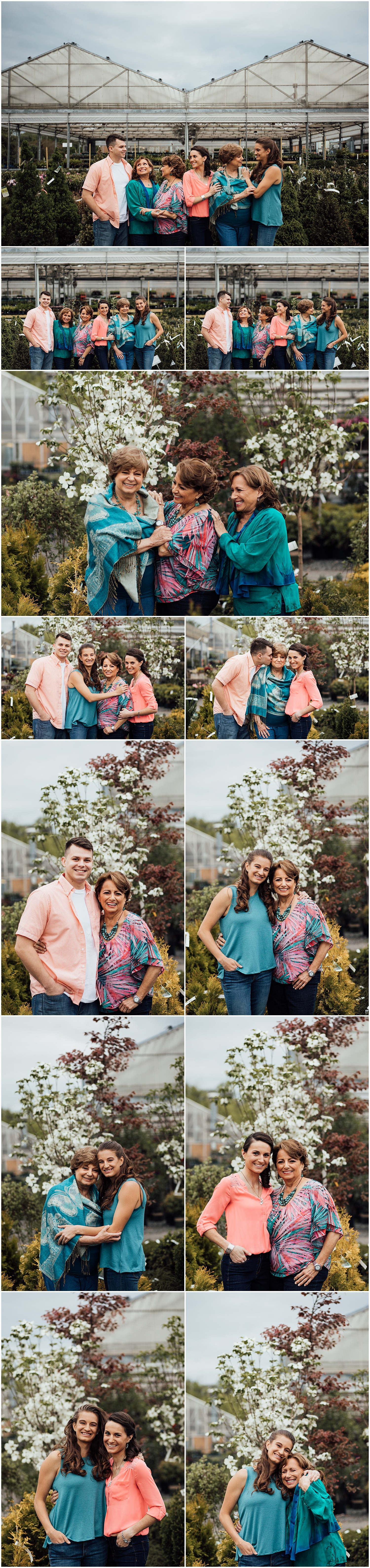 Fairfax Virginia extended family session in a greenhouse by Rachel K Photo