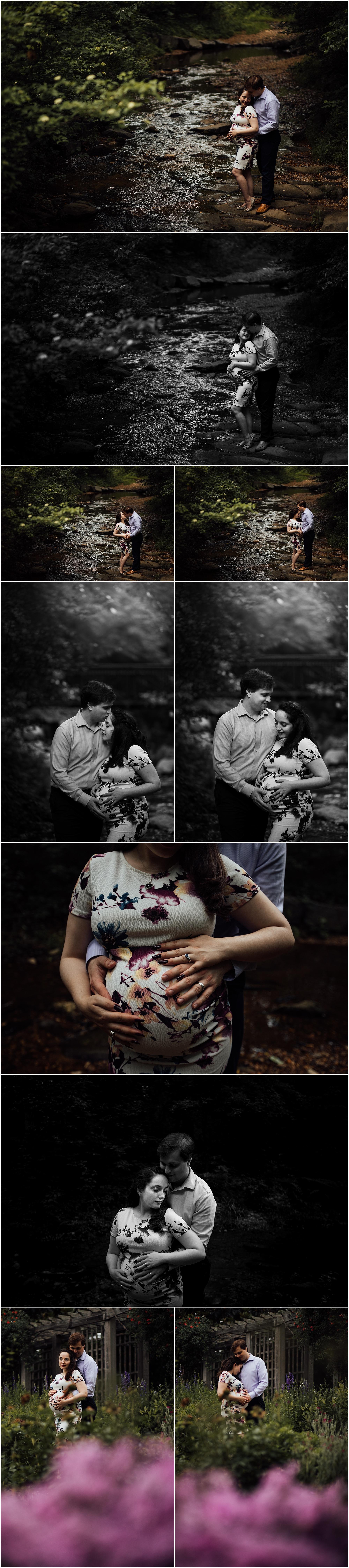 Creek maternity session by Huntsville Alabama maternity photographer Rachel K Photo