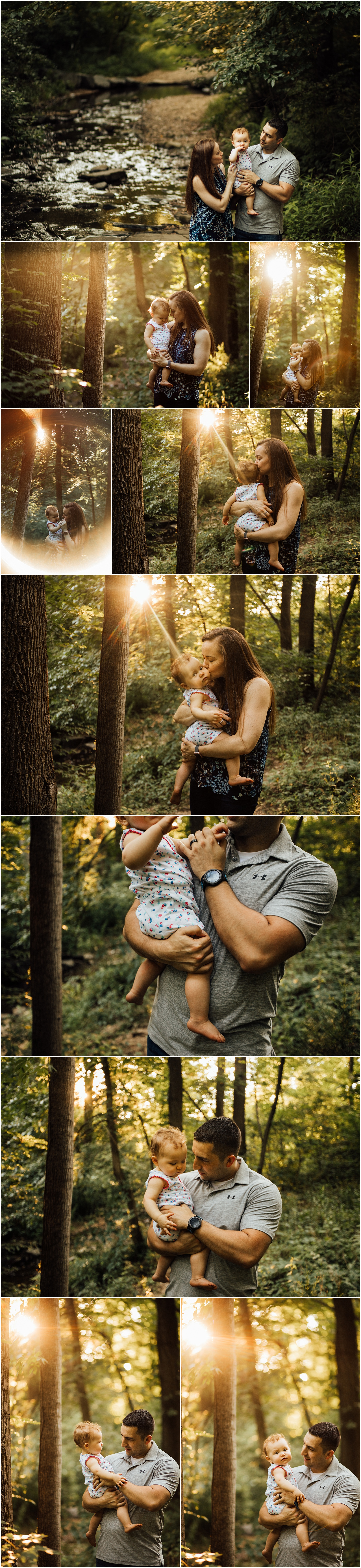 one year old family session at park by Huntsville Alabama photographer Rachel K Photo