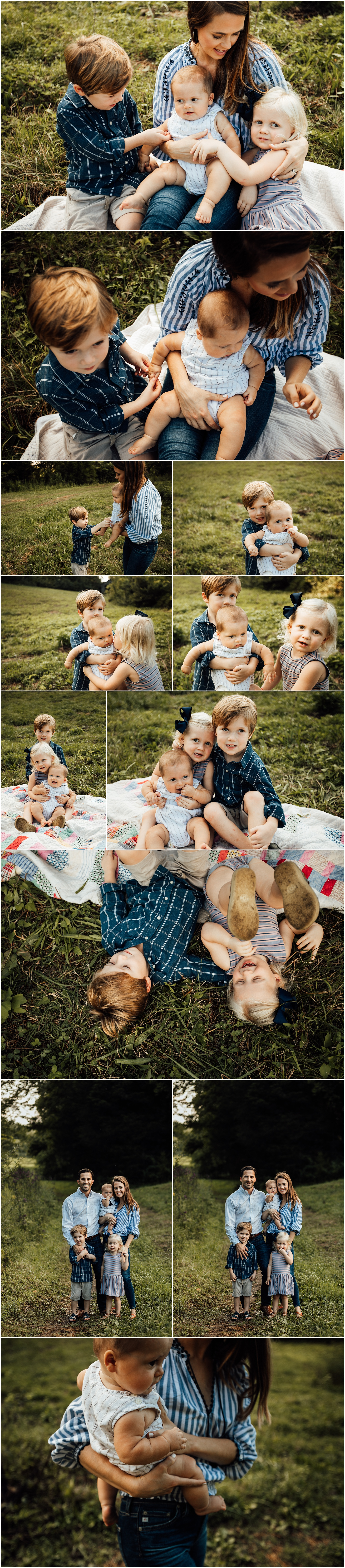Huntsville Alabama family of 5 outdoor farm session by Rachel K Photo
