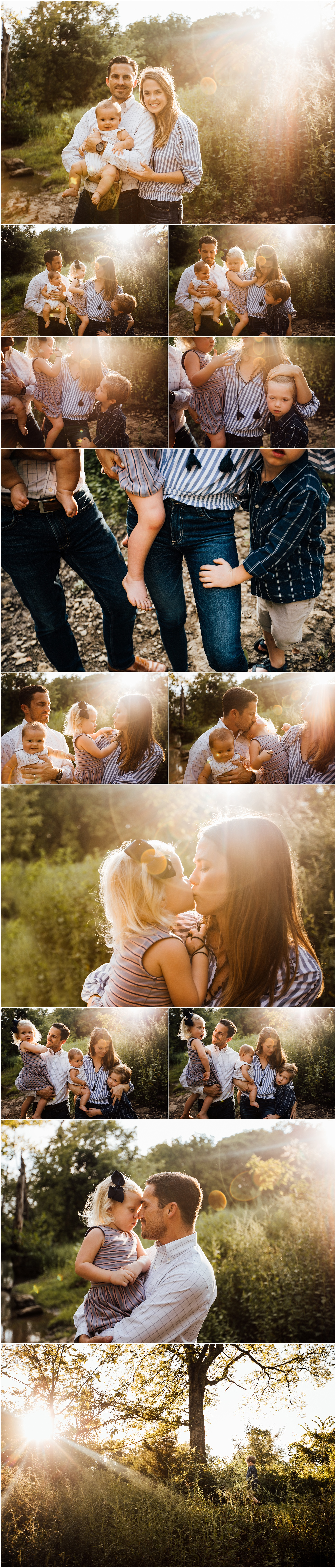 Huntsville Alabama family of 5 outdoor creek session by Rachel K Photo