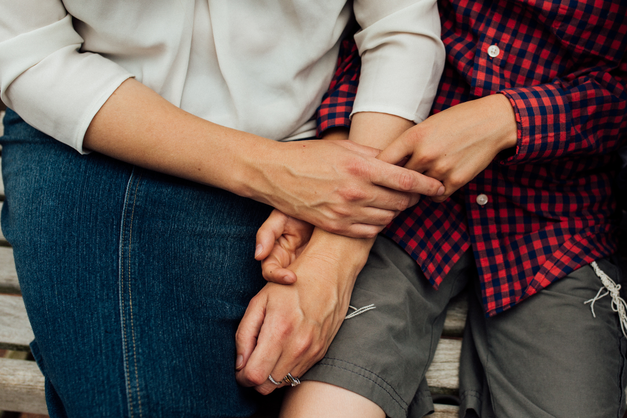 Mother holding son's hand by Madison and Huntsville Alabama family photographer Rachel K Photo