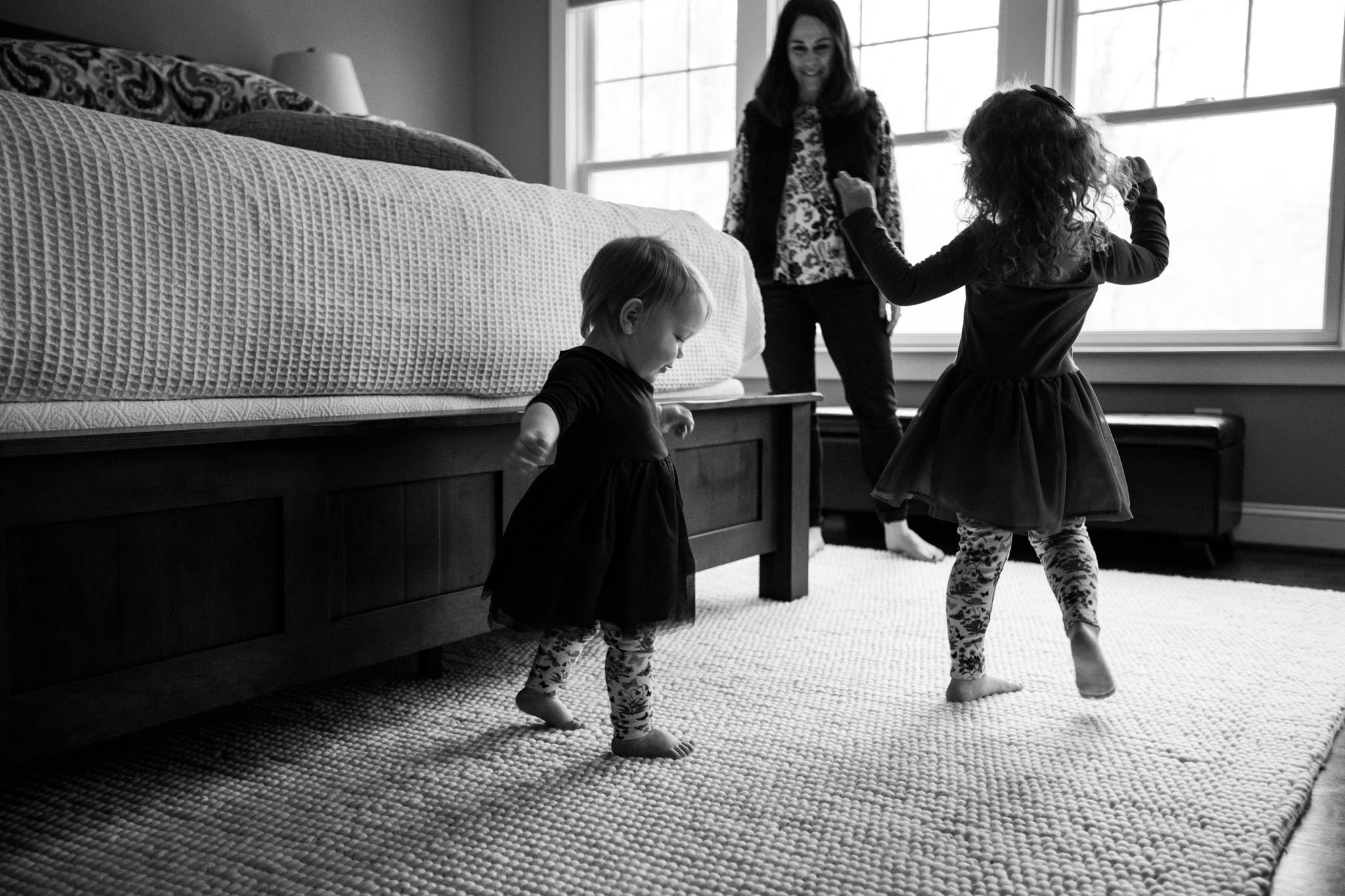 Two girls dancing with momma in Huntsville/Madison Alabama area.