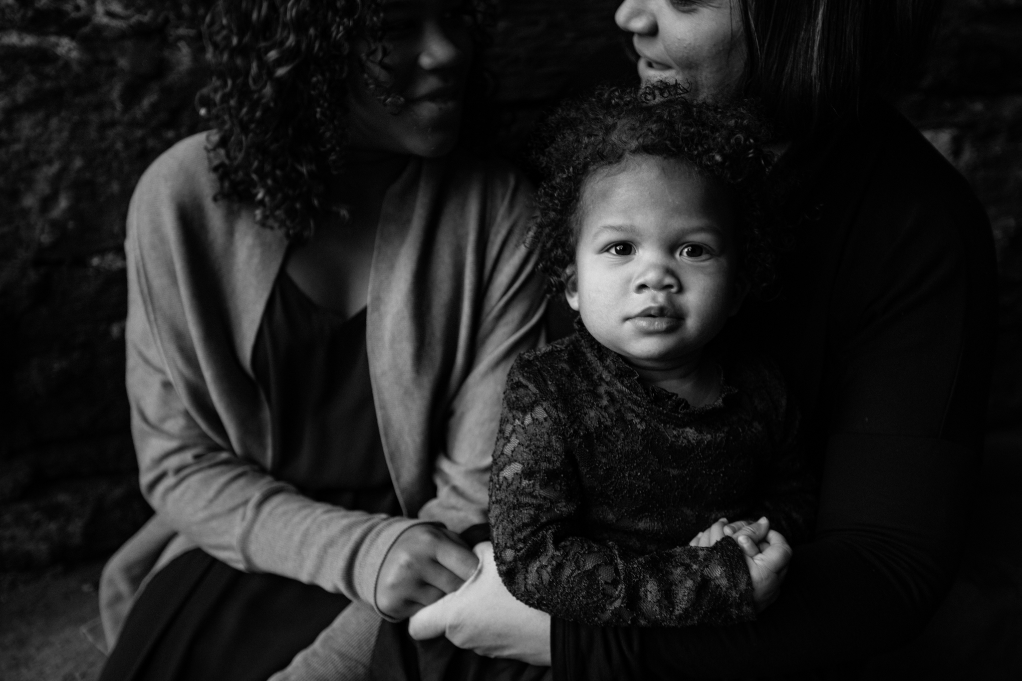 Mother and two daughters by Madison and Huntsville Alabama family photographer Rachel K Photo