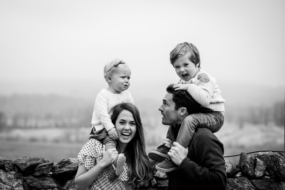 Kids on parents shoulders by Madison and Huntsville Alabama family photographer Rachel K Photo