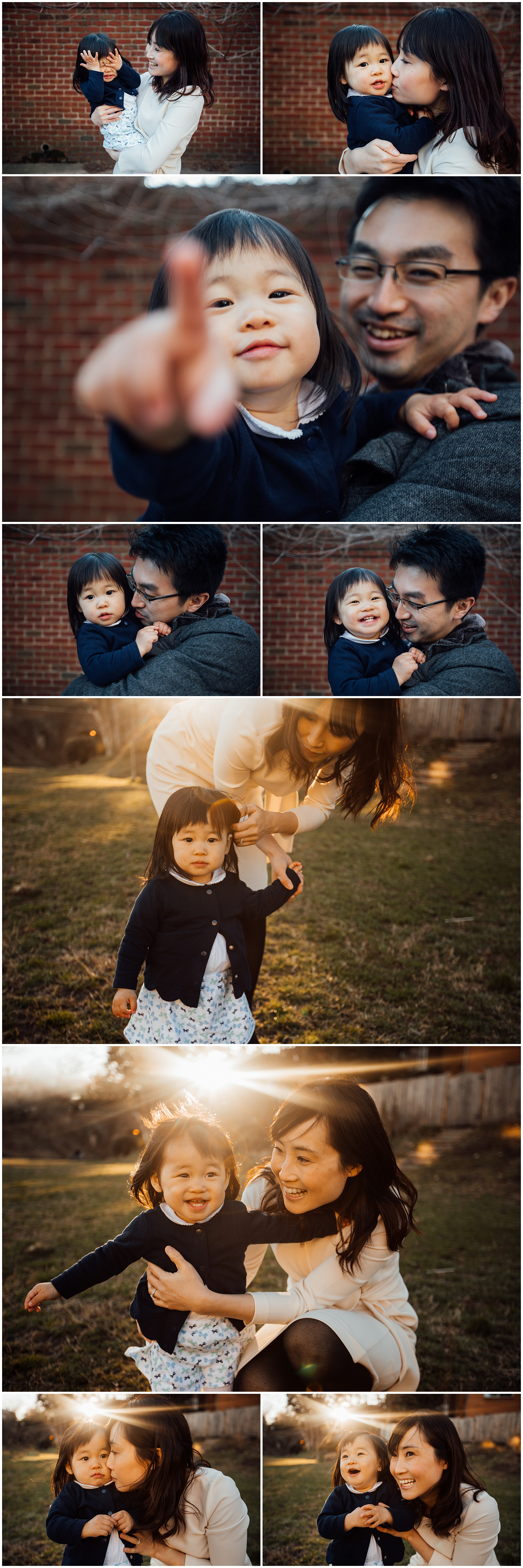 Sunlit family urban session by Huntsville and Madison Alabama family photographer Rachel K Photo
