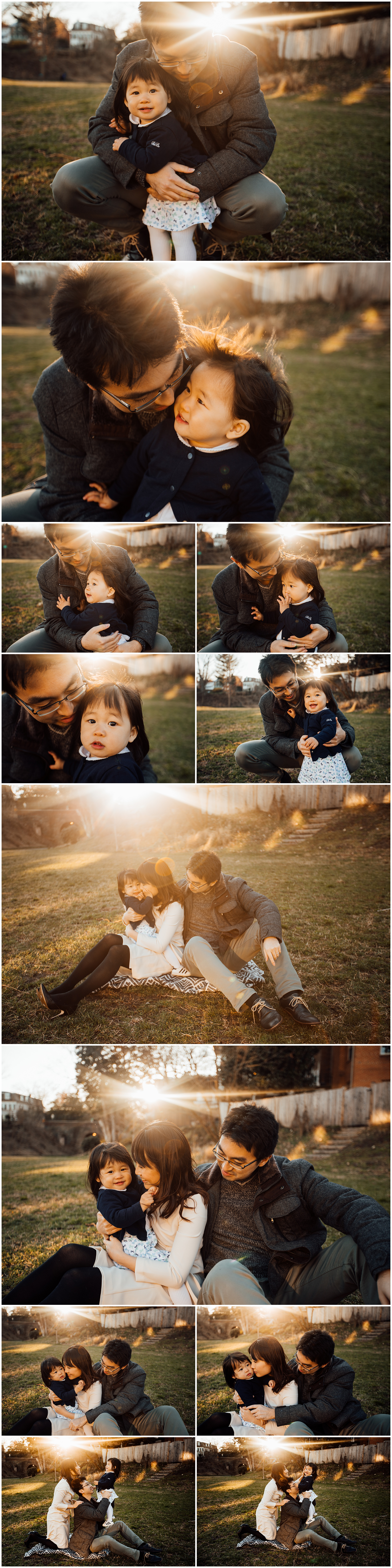 Sunlit urban family session by Huntsville and Madison Alabama photographer Rachel K Photo