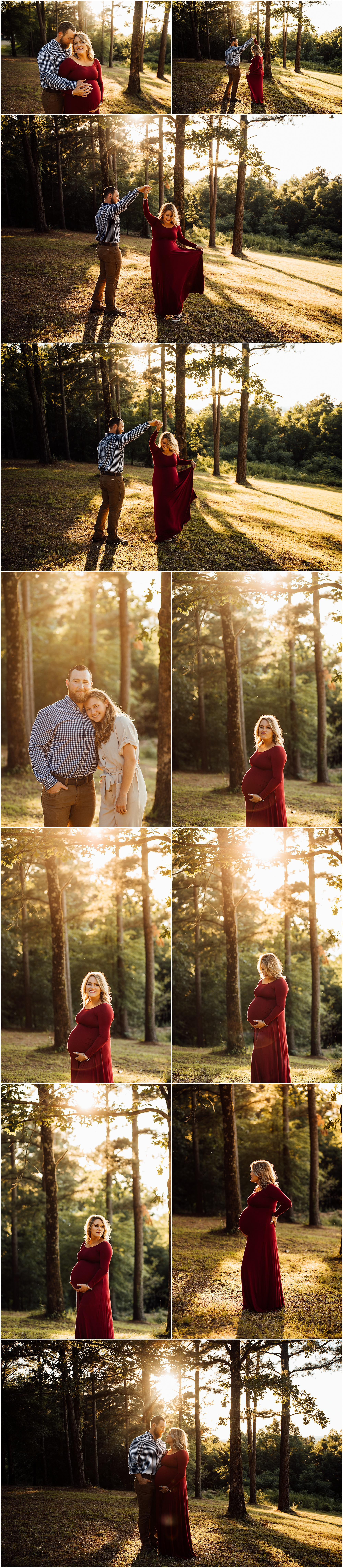 Sunlit family maternity session with large age gap kids by Huntsville and Madison Alabama family photographer Rachel K Photo