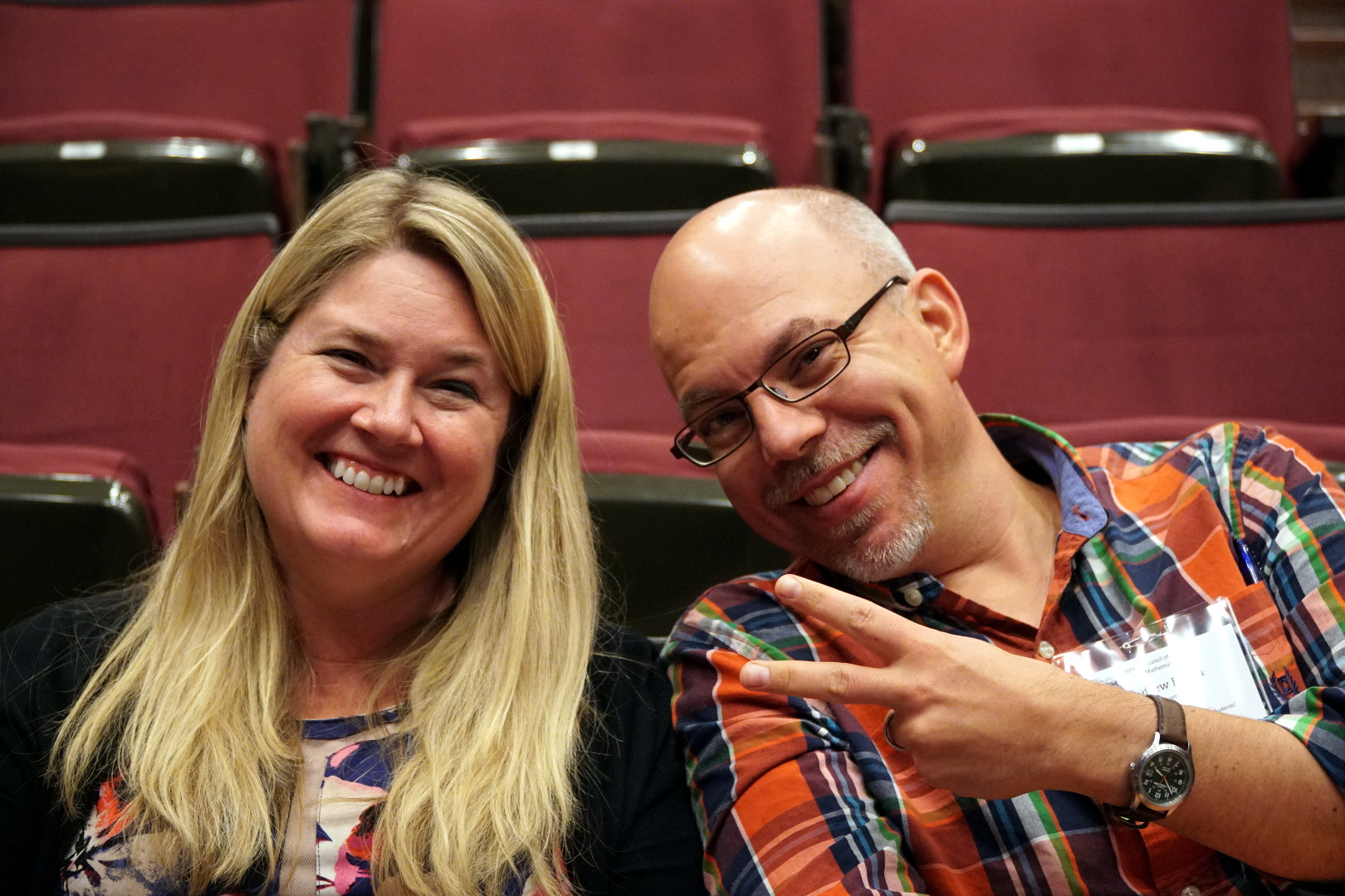 Amanda Jansen (@MandyMathEd) and Andrew Busch (@abusch38) are a #cctm17 power pair. (Amandrew?)