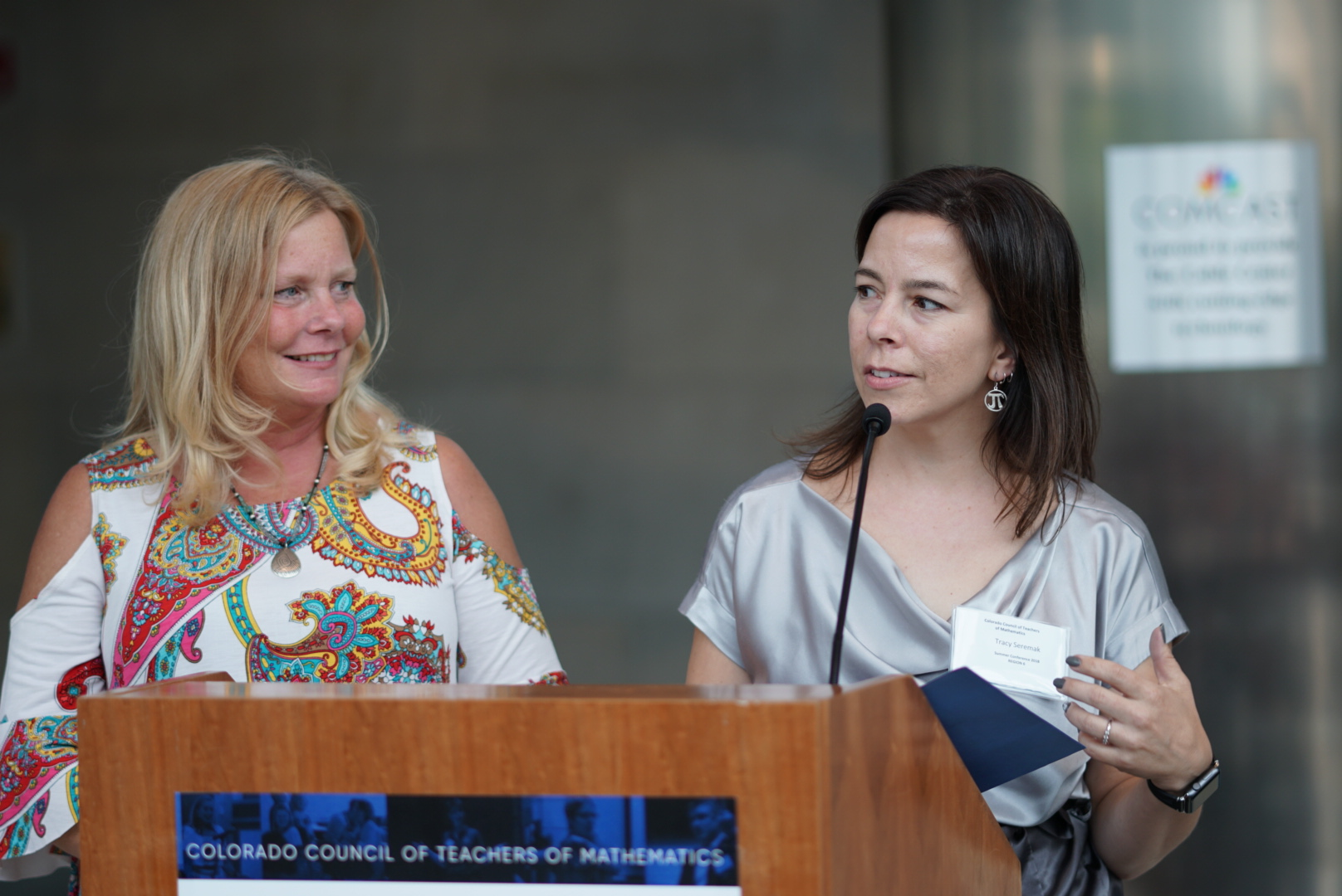 The 2018 CCTM Annual Conference wouldn't happen without the dedication of our two conference co-chairs, Liz Zitterkopf and Tracy Seremak.