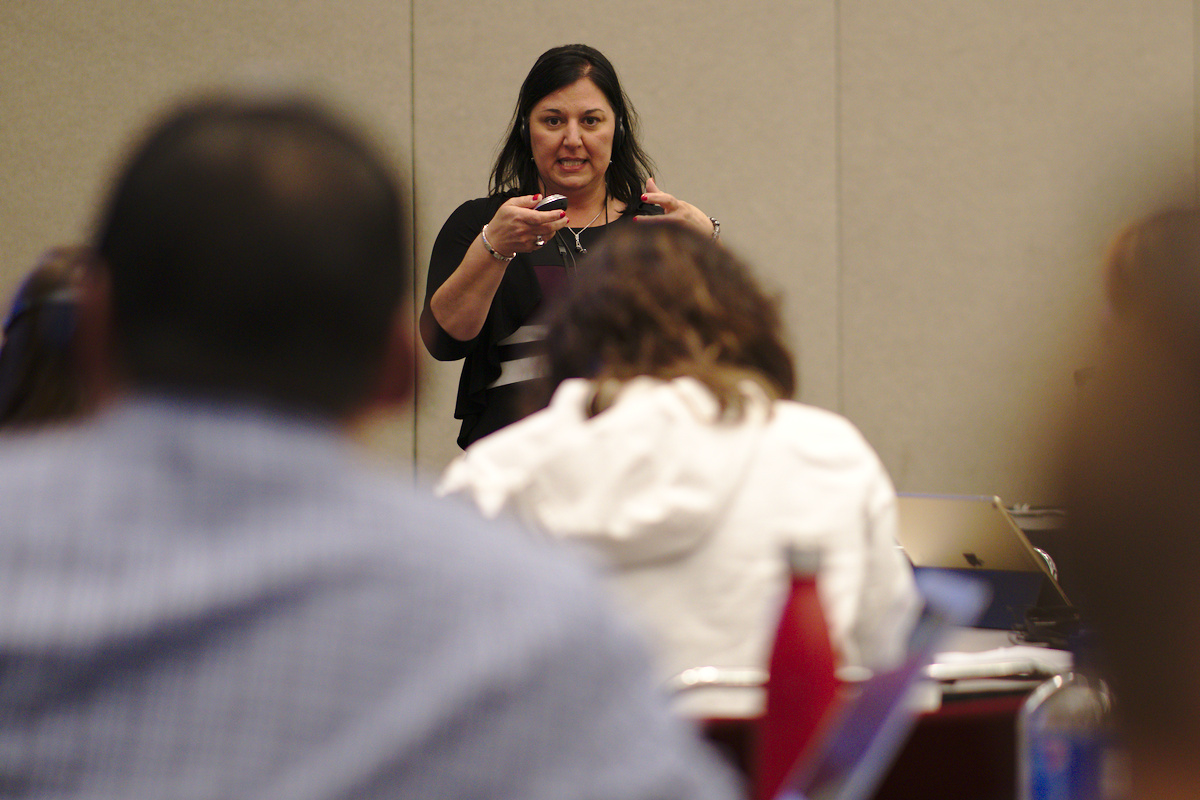 Melissa Boston leading a workshop at the 2019 NCTM Annual Meeting