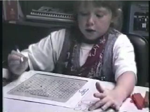 Figure 3. Gretchen using the hundreds chart.