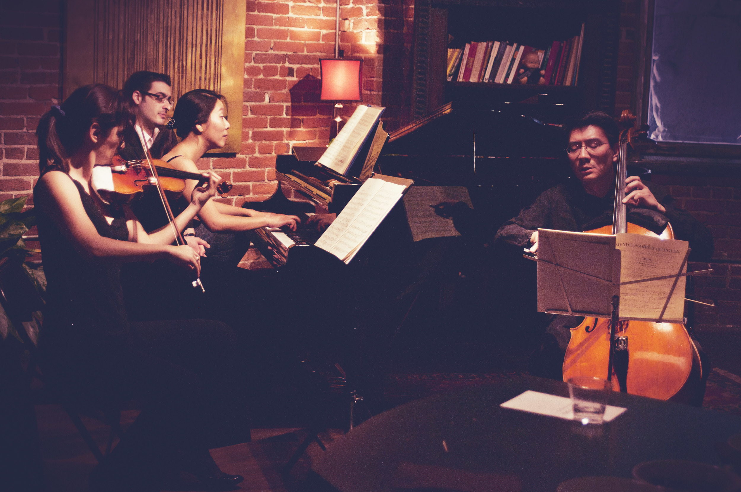 Artistic Soirées are a series of classical concerts and art collaborations where you can experience the finest from LA's art scene, right from the composer's own den.