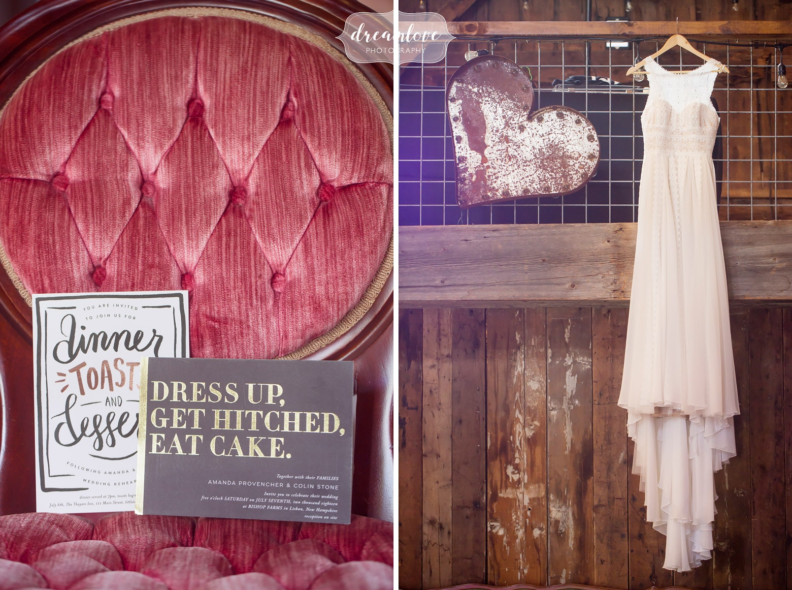 Rustic, farm wedding captured by  Dreamlove Photography