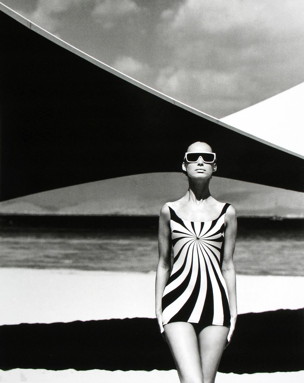 Op Art Swimsuit, Brigitte Bauer for Sinz, Vouliagmeni, Greece, 1966, F.C. Gundlach
