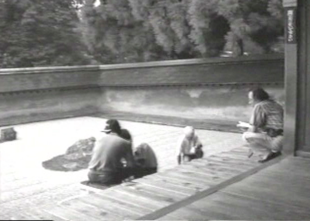 Still from The Making of MA: Space and Time in the Garden of Ryoanji, 1989. Courtesy of artist