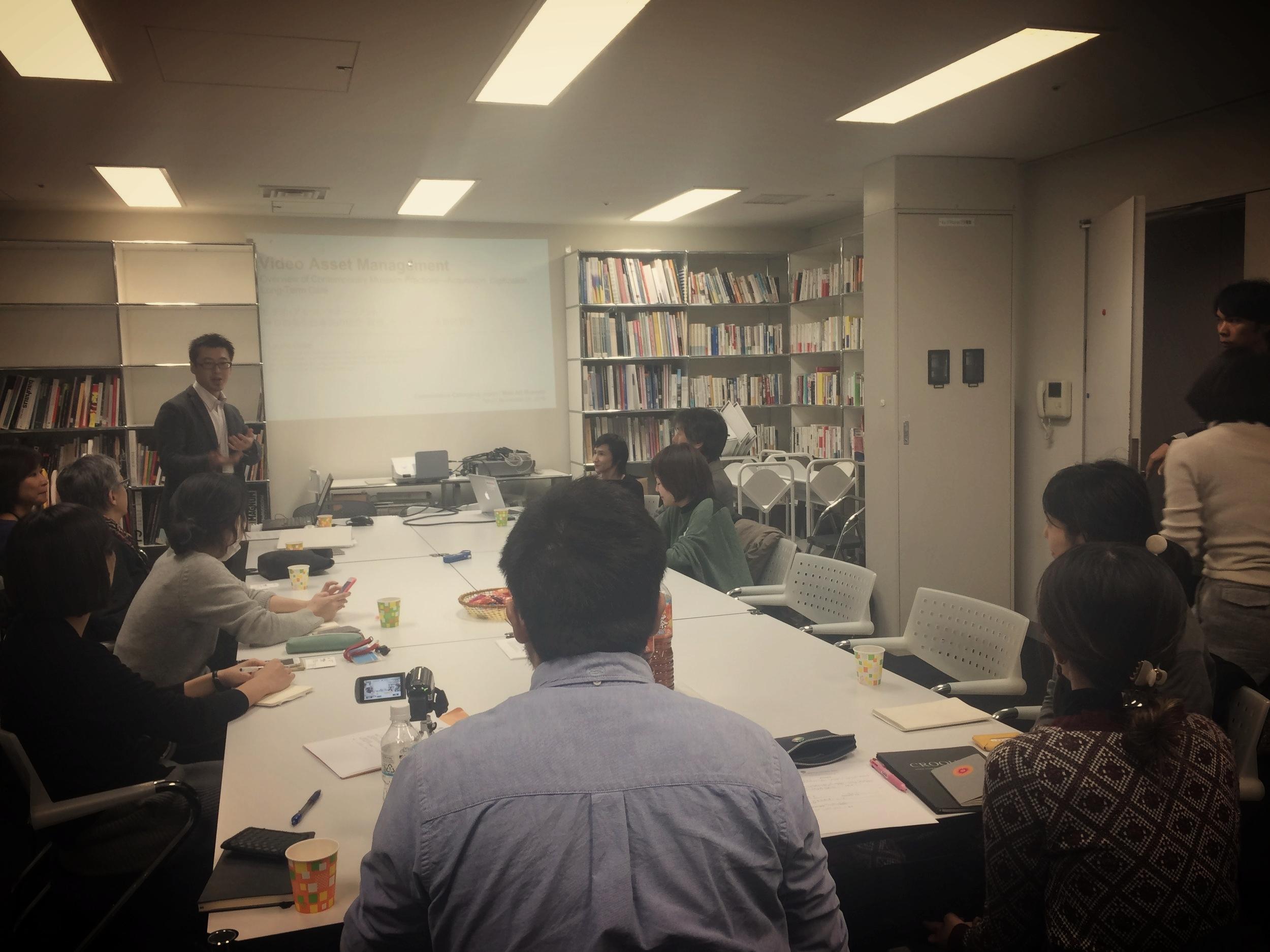 Workshop co-organizer Kenichi Kondo introducing the program.