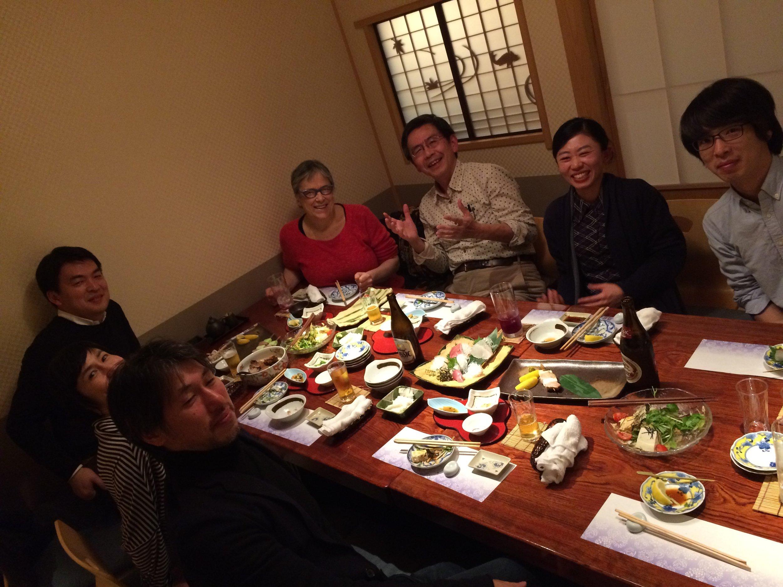 Dinner with staff of Film Center, Tokyo