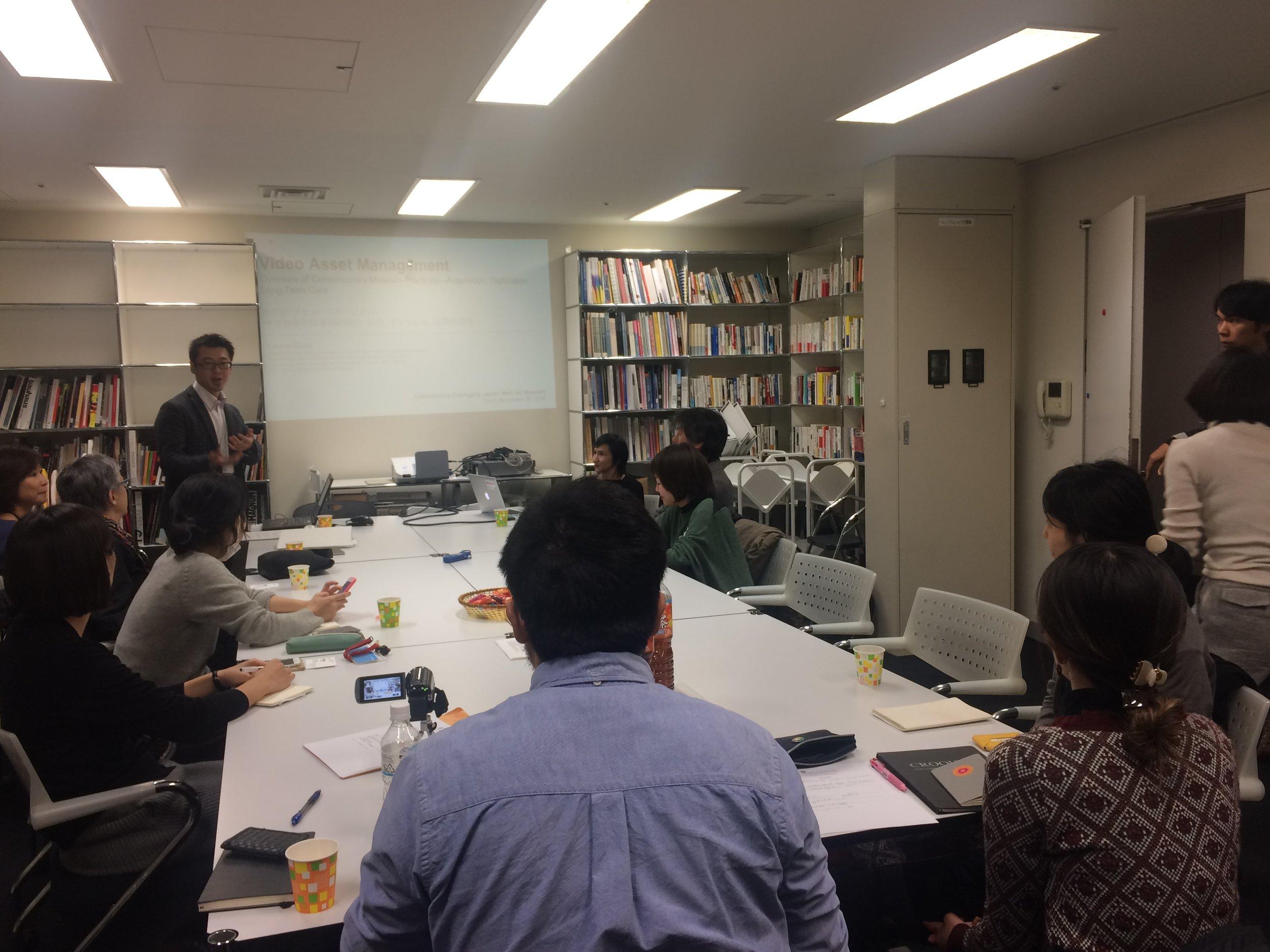 Workshop at Mori Art Museum