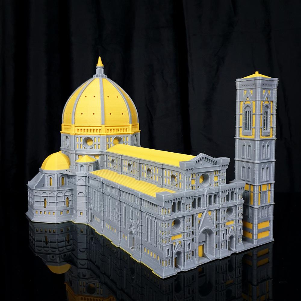 피란체 두오모 성당  가로 56cm 듀얼로 한번에 출력