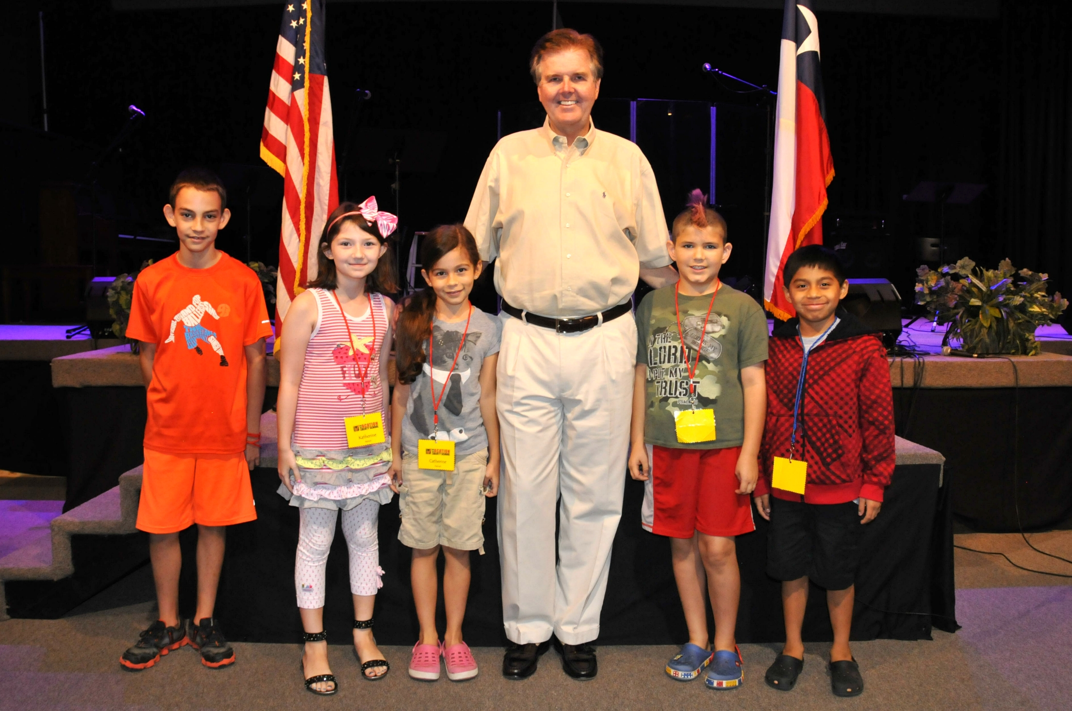 Dan Patrick with a group of campers at our annual Vacation Liberty School.