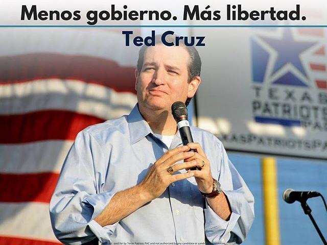 El único candidato que quiere más libertad para la gente... Vota hoy por Ted Cruz!  #CruzCrew #texas #htx #dallastx #txlege