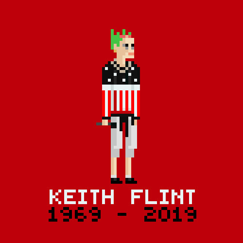 """Breathe the pressure. Come play my game I'll test ya""  RIP Kieth Flint. The Real Firestarter 🔥🙏 #TheProdigy #KeithFlintRIP #PixelArt #Legend #Tribute"