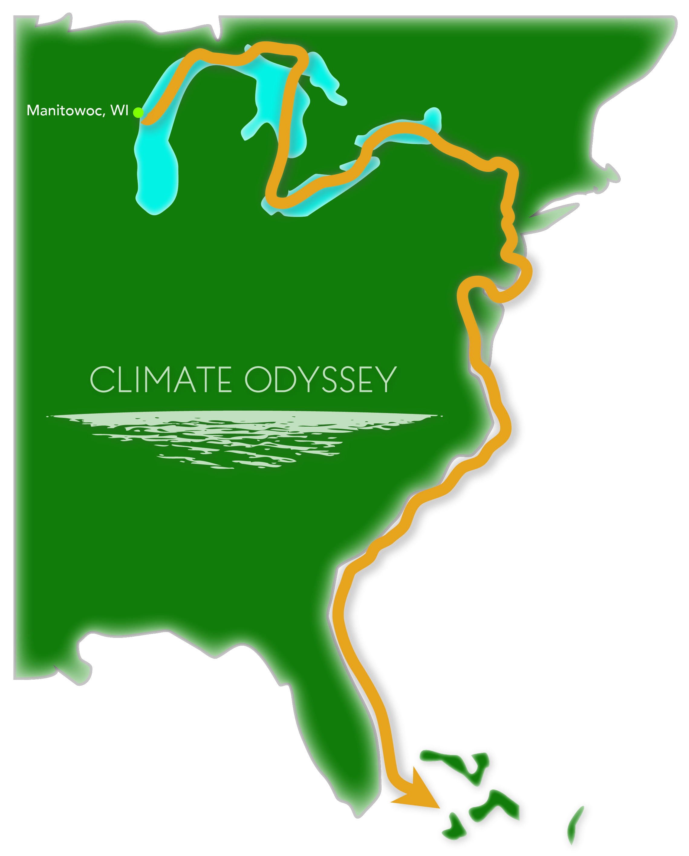 climate odyssey route map